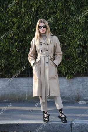 Editorial image of Street Style, Fall Winter 2020, Milan Fashion Week, Italy - 19 Feb 2020
