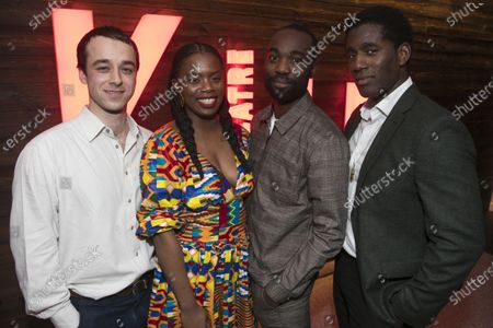 Alexander Eliot (Mister/Ossifer), Antoinette Nwandu (Author), Paapa Essiedu (Moses) and Gershwyn Eustache Jnr (Kitch)