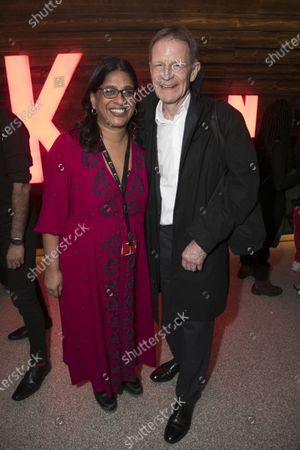 Stock Photo of Indhu Rubasingham (Director) and Sir Nicholas Serota