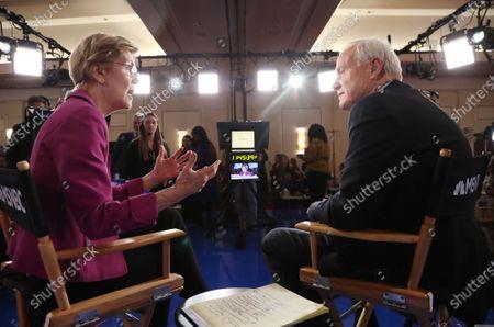 Elizabeth Warren and Chris Matthews