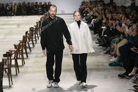 Stock Photo of Luke Meier and Lucie Meier on the catwalk