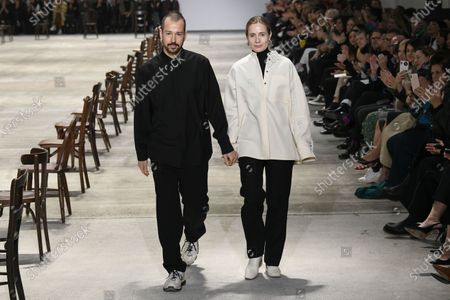 Stock Image of Luke Meier and Lucie Meier on the catwalk