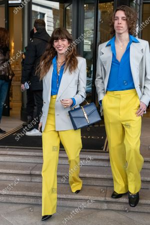 Lou Doillon and her son Marlow Mitchell
