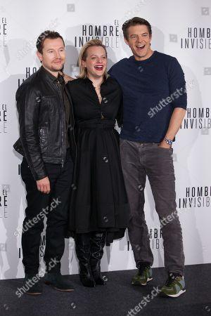 Leigh Whannell, Elisabeth Moss and Jason Blum