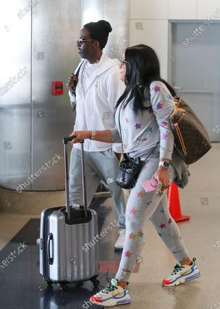 Stock Picture of Shawn Stockman and his wife Sharonda Jones