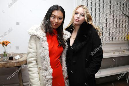Stock Image of Meki Saldana and Leah Kelley