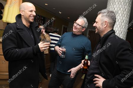 Stock Image of Benedict Andrews (Director), Ted Hope (Head of Motion Pictures; Amazon Studios) and Fred Berger (Producer)