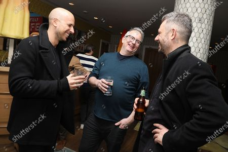 Stock Picture of Benedict Andrews (Director), Ted Hope (Head of Motion Pictures; Amazon Studios) and Fred Berger (Producer)