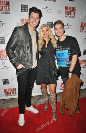 Stock Picture of Curtis Pritchard, AJ Pritchard and Abbie Quinnen