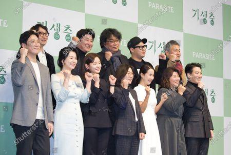 Stock Image of Yang Jin-mo, Kang-Ho Song, Bong Joon-Ho, Jin Won Han, Lee Ha-jun, Lee Sun-kyun, Jang Hye-Jin, Park So-dam, Kwak Sin-ae, Cho Yeo-Jeong, Lee Jung-Eun and Park Myung-Hoon
