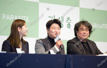Park So-dam, Kang-Ho Song and Bong Joon-Ho