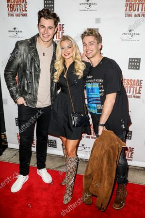 Editorial image of 'Message in a Bottle' musical, Arrivals, Peacock Theatre, London, UK - 19 Feb 2020