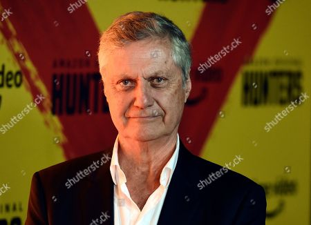 """Stock Picture of Lasse Hallstrom poses at the premiere of the Amazon Prime Video series """"Hunters"""" at the Directors Guild of America, in Los Angeles"""