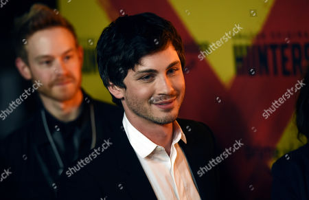 """Logan Lerman, a cast member in the Amazon Prime Video series """"Hunters,"""" arrives at the premiere of the show at the Directors Guild of America, in Los Angeles"""