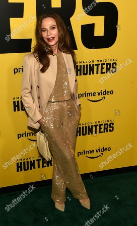 "Stock Picture of Lena Olin, a cast member in the Amazon Prime Video series ""Hunters,"" poses at the premiere of the show at the Directors Guild of America, in Los Angeles"