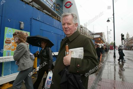Conservative Mayoral Candidate Steven Norris Outside Brixton Station.