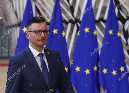 Slovenian Prime Minister Marjan Sarec arrives for a Special European Council meeting in Brussels, Belgium, 20 February 2020. EU heads of state or government gather for a special meeting to discuss the EU's long-term budget for 2021-2027.