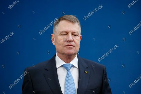 President of Romania Klaus Werner Iohannis arrives for a Special European Council meeting in Brussels, Belgium, 20 February 2020. EU heads of state or government gather for a special meeting to discuss the EU's long-term budget for 2021-2027.