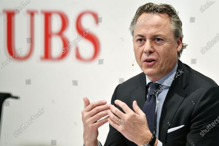 Ralph Hamers, new CEO of Swiss Bank UBS, during a press conference in Zurich, Switzerland, 20 February 2020. Dutchman Ralph Hamers will replace Sergio Ermotti, who is still CEO of UBS on November 1, 2020.