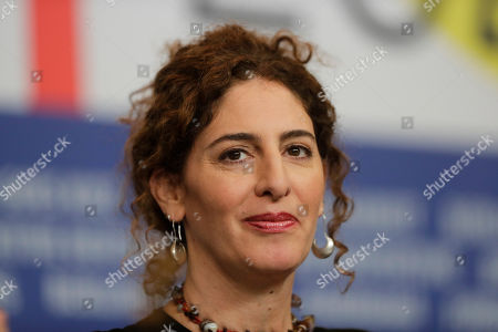 Director Annemarie Jacir, jury member of the 70th International Film Festival Berlin, Berlinale, attends a news conference in Berlin, Germany