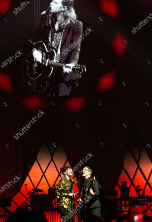 Editorial picture of The Lumineers in concert, Bankers Life Fieldhouse, Indianapolis, Indiana, USA - 18 Feb 2020