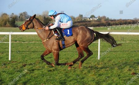 THURLES POLITESSE and Tom Hamilton win the bumper for Lorna Fowler. Healy Racing