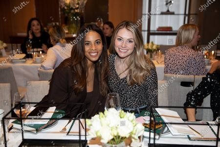 Rochelle Humes and Georgia Horsley