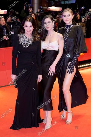 Iris Berben, Lena Meyer-Landrut and Stefanie Giesinger arrive for the Opening Ceremony of the 70th annual Berlin International Film Festival (Berlinale), in Berlin, Germany, 20 February 2020. The Berlinale runs from 20 February to 01 March 2020.