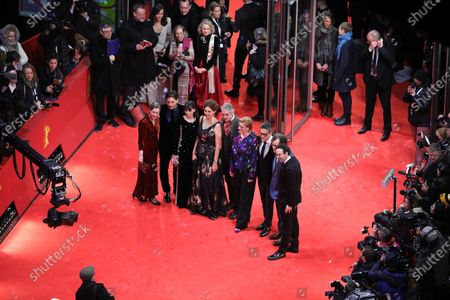 Berlinale managing director Mariette Rissenbeek, International Jury members Luca Marinelli, Berenice Bejo, Annemarie Jacir, Jury president Jeremy Irons, Bettina Brokemper, Kleber Mendonca Filho and Kenneth Lonergan, and Berlinale artistic director Carlo Chatrian arrive for the Opening Ceremony of the 70th annual Berlin International Film Festival (Berlinale), in Berlin, Germany, 20 February 2020. The Berlinale runs from 20 February to 01 March 2020.