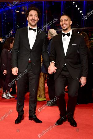 Fahri Ogün Yardim (L) and Andreas Bourani (R) arrive for the Opening Ceremony of the 70th annual Berlin International Film Festival (Berlinale), in Berlin, Germany, 20 February 2020. The Berlinale runs from 20 February to 01 March 2020.