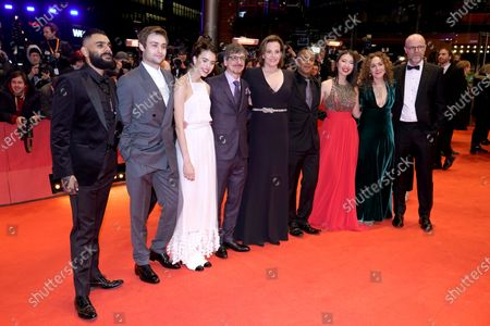 Sigourney Weaver (C) US actress Sarah Margaret Qualley (3-L),  Canadian director Philippe Falardeau (4-L) along with the rest of the cast arrive for the Opening Ceremony of the 70th annual Berlin International Film Festival (Berlinale), in Berlin, Germany, 20 February 2020. The Berlinale runs from 20 February to 01 March 2020.