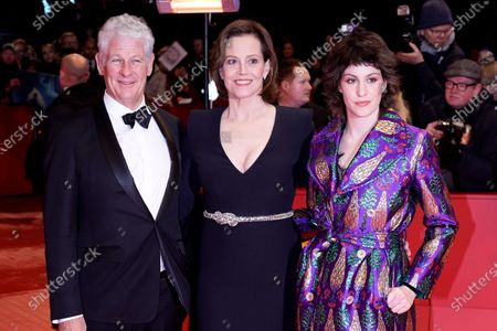 Sigourney Weaver (C), Jim Simpson and Charlotte Simpson (R) arrives for the Opening Ceremony of the 70th annual Berlin International Film Festival (Berlinale), in Berlin, Germany, 20 February 2020. The Berlinale runs from 20 February to 01 March 2020.