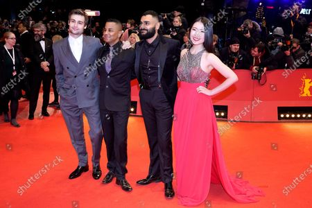 Douglas Booth, Yanic Truesdale, Hamza Haq and Xiao Sun arrive for the Opening Ceremony of the 70th annual Berlin International Film Festival (Berlinale), in Berlin, Germany, 20 February 2020. The Berlinale runs from 20 February to 01 March 2020.