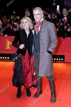 Jeremy Irons and his wife Irish actress Sinead Cusack arrive for the Opening Ceremony of the 70th annual Berlin International Film Festival (Berlinale), in Berlin, Germany, 20 February 2020. The Berlinale runs from 20 February to 01 March 2020.