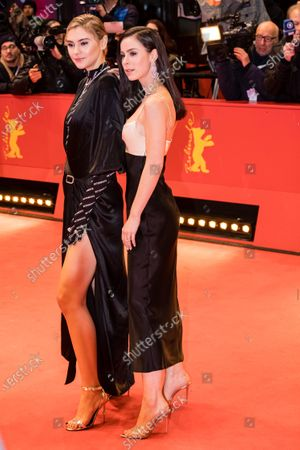 Lena Meyer-Landrut (R) and Stefanie Giesinger arrive for the Opening Ceremony of the 70th annual Berlin International Film Festival (Berlinale), in Berlin, Germany, 20 February 2020. The Berlinale runs from 20 February to 01 March 2020.