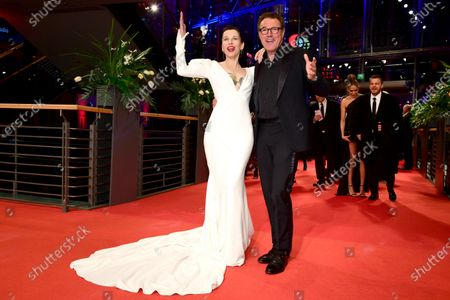Meret Becker (L) and Sebastian Koch arrive for the Opening Ceremony of the 70th annual Berlin International Film Festival (Berlinale), in Berlin, Germany, 20 February 2020. The Berlinale runs from 20 February to 01 March 2020.