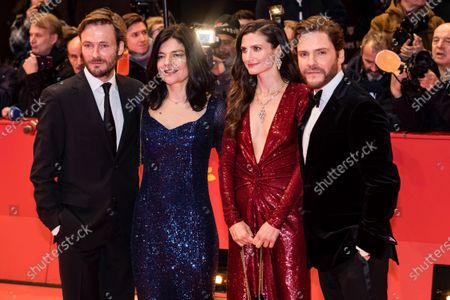 Andreas Pietschmann, Jasmin Tabatabai, Felicitas Rombold, and Daniel Bruhl arrive for the Opening Ceremony of the 70th annual Berlin International Film Festival (Berlinale), in Berlin, Germany, 20 February 2020. The Berlinale runs from 20 February to 01 March 2020.