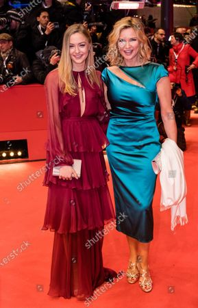 Veronica Ferres (R) and her daughter Lilly Krug arrive for the Opening Ceremony of the 70th annual Berlin International Film Festival (Berlinale), in Berlin, Germany, 20 February 2020. The Berlinale runs from 20 February to 01 March 2020.