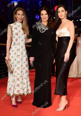 Nora Waldstaetten, Iris Berben and Lena Meyer-Landrut arrive for the Opening Ceremony of the 70th annual Berlin International Film Festival (Berlinale), in Berlin, Germany, 20 February 2020. The Berlinale runs from 20 February to 01 March 2020.