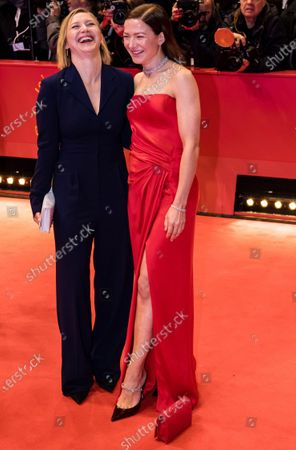 Anna Maria Muehe (L) and Hannah Herzsprung arrive for the Opening Ceremony of the 70th annual Berlin International Film Festival (Berlinale), in Berlin, Germany, 20 February 2020. The Berlinale runs from 20 February to 01 March 2020.