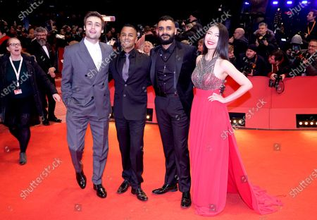 Douglas Booth, Yanic Truesdale, Hamza Haq, and Xiao Sun arrive for the Opening Ceremony of the 70th annual Berlin International Film Festival (Berlinale), in Berlin, Germany, 20 February 2020. The Berlinale runs from 20 February to 01 March 2020.