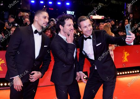 Andreas Bourani, Fahri Yardim, and Kai Pflaume arrive for the Opening Ceremony of the 70th annual Berlin International Film Festival (Berlinale), in Berlin, Germany, 20 February 2020. The Berlinale runs from 20 February to 01 March 2020.