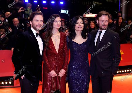 Andreas Pietschmann, Jasmin Tabatabai, Felicitas Rombold, and Daniel Bruehl arrive for the Opening Ceremony of the 70th annual Berlin International Film Festival (Berlinale), in Berlin, Germany, 20 February 2020. The Berlinale runs from 20 February to 01 March 2020.