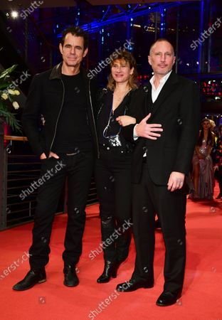 Tom Tykwer, producer Marie Steinmann and actor Benno Fuermann arrive for the Opening Ceremony of the 70th annual Berlin International Film Festival (Berlinale), in Berlin, Germany, 20 February 2020. The Berlinale runs from 20 February to 01 March 2020.