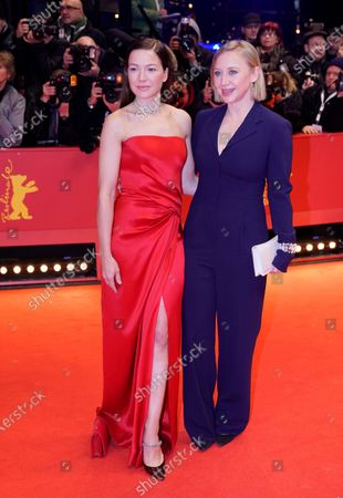 Anna Maria Muehe (R) and Hannah Herzsprung arrive for the Opening Ceremony of the 70th annual Berlin International Film Festival (Berlinale), in Berlin, Germany, 20 February 2020. The Berlinale runs from 20 February to 01 March 2020.