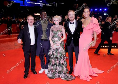 Joachim Krol, Welket Bungue, Jella Haase, Albrecht Schuch and Annabelle Mandeng arrive for the Opening Ceremony of the 70th annual Berlin International Film Festival (Berlinale), in Berlin, Germany, 20 February 2020. The Berlinale runs from 20 February to 01 March 2020.