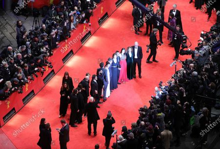 Philippe Falardeau (C-L), Sigourney Weaver (C-R) with cast and crew arrive for the Opening Ceremony of the 70th annual Berlin International Film Festival (Berlinale), in Berlin, Germany, 20 February 2020. The Berlinale runs from 20 February to 01 March 2020.