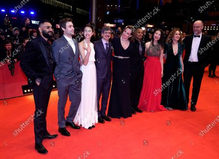 Hamza Haq, Douglas Booth, Margaret Qualley, Philippe Falardeau, Sigourney Weaver, Yanic Truesdale, Xiao Sun, and Joanna Rakoff arrive for the Opening Ceremony of the 70th annual Berlin International Film Festival (Berlinale), in Berlin, Germany, 20 February 2020. The Berlinale runs from 20 February to 01 March 2020.