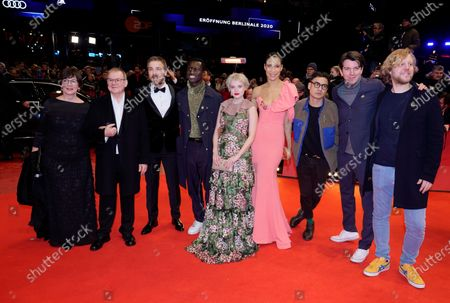 Heidrun Teusner Krol, Joachim Krol, Albrecht Schuch, Welket Bungue, Jella Haase, Annabelle Mandeng, Burhan Qurbani, Jochen Laube and Leif Alexis arrive for the Opening Ceremony of the 70th annual Berlin International Film Festival (Berlinale), in Berlin, Germany, 20 February 2020. The Berlinale runs from 20 February to 01 March 2020.