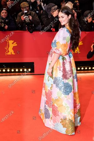 Stock Image of Lea van Acken arrives for the Opening Ceremony of the 70th annual Berlin International Film Festival (Berlinale), in Berlin, Germany, 20 February 2020. The Berlinale runs from 20 February to 01 March 2020.